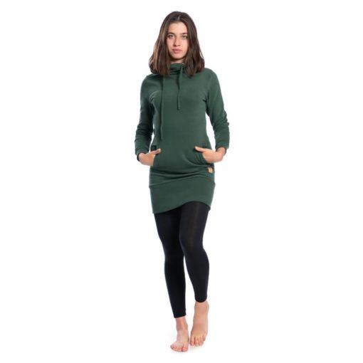shawl-hoody-dress-damen-dunkelgrun-ec0